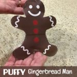 Puffy Gingerbread Man Craft