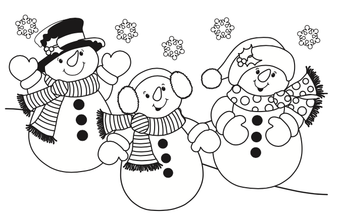 Here are 7 free Christmas coloring pages for kids to color.