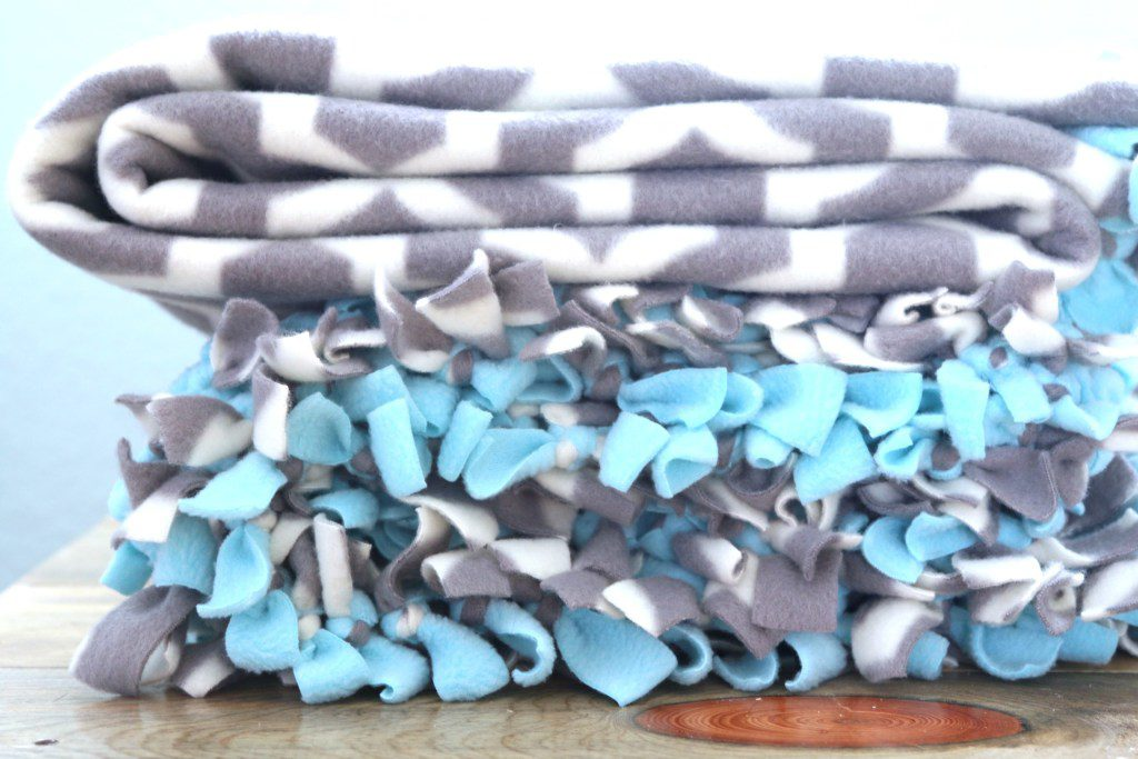 This tied fleece blanket was featured at Party in Your PJs link party.