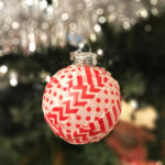 Super Easy Washi Tape Christmas Ornament