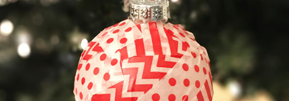 These washi tape Christmas tree ornaments are the easiest ever to make!