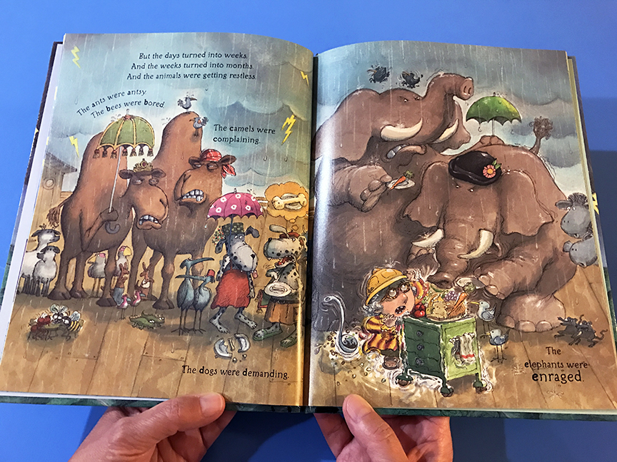 We're All in the Same Boat is a fun ABC book about the story of Noah, his ark, the animals, and the flood. Great book for kids!
