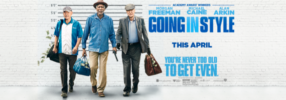 The movie Going in Style will be out in theaters in April.