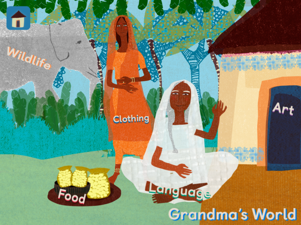 Grandma's Gourd is a delightful book app for children ages 6-8.