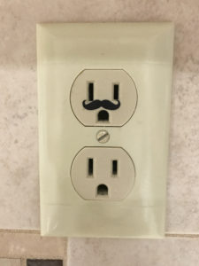 This mustache for electrical outlets is so fun to have!