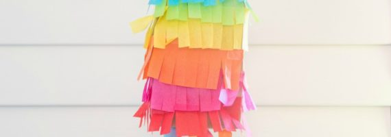 This paper bag pinata was featured at the Party in Your PJs link party.