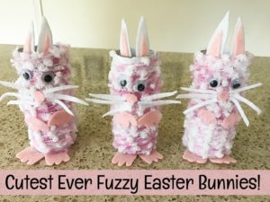 These cutest every fuzzy Easter bunnies are super easy to make.