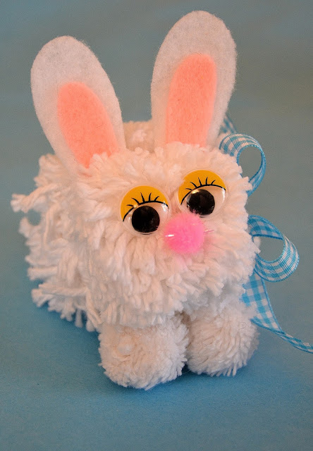 This pom-pom bunny was featured at the Party in Your PJs link party.