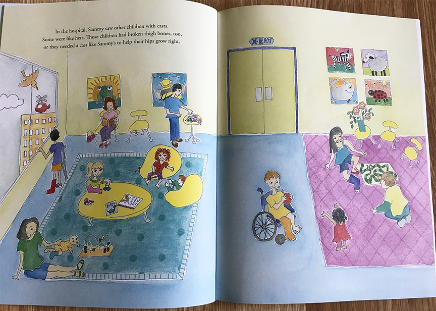 Sammy's Broken Leg by Judith Mandell is a children's picture book.