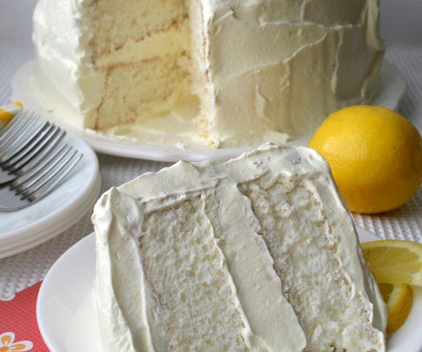 This lemon cake was featured at the Party in Your PJs link party.