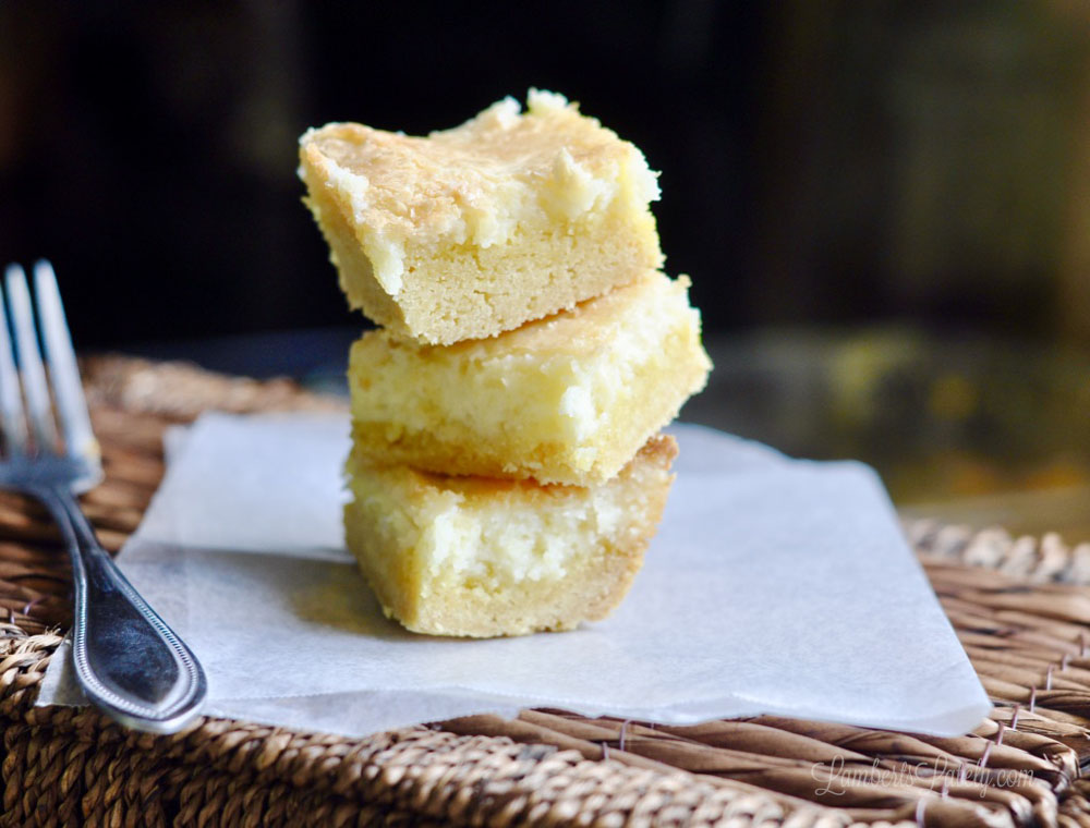 These lemon drop chess squares were featured at the Party in Your PJs link party.