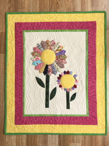 I quilted this wall hanging that my mother made.