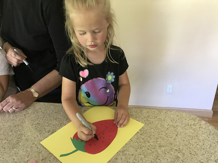 This strawberry craft is super easy and inexpensive to make!
