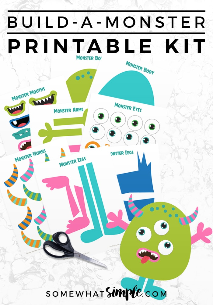 This free build a monster kit was featured at the Party in Your PJs link party,.