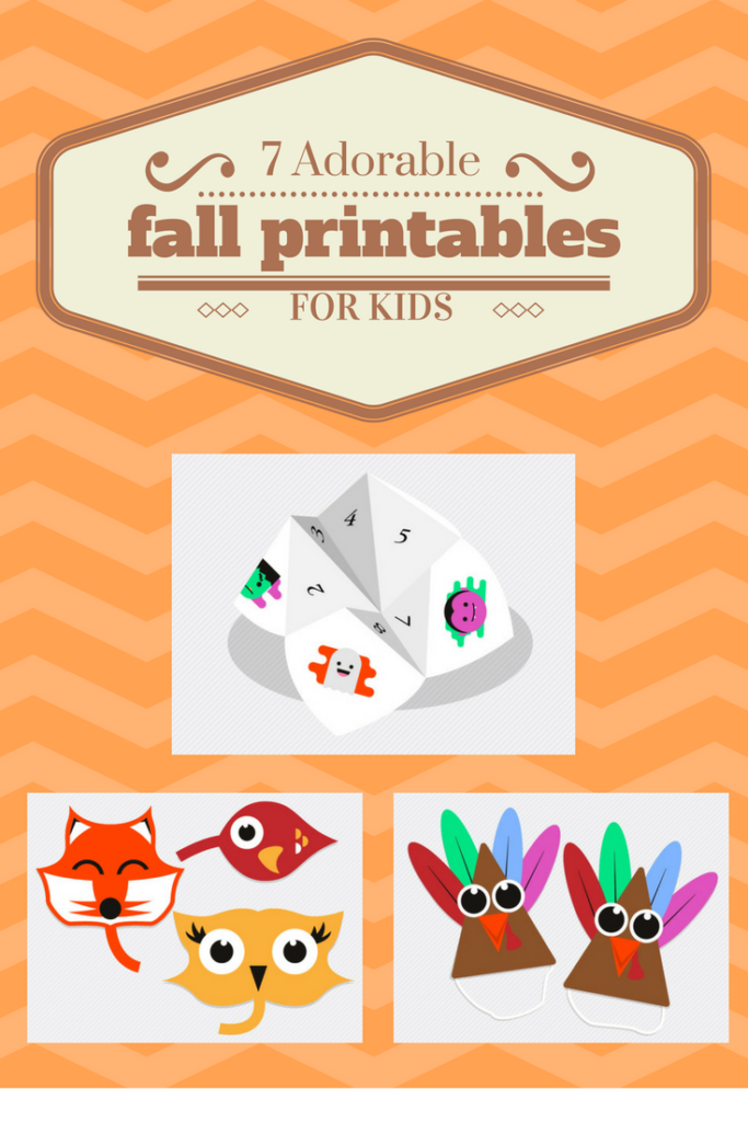 7 adorable fall printables for kids
