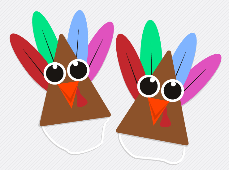 Turkey party hats