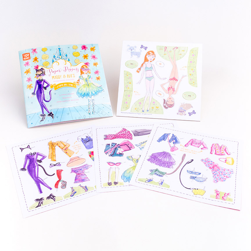 Paper Poppits are a fun, modern version of paper dolls. Girls will absolutely love them!