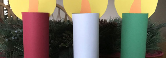 Make this super easy Christmas candle craft with kids. Kids love making them!