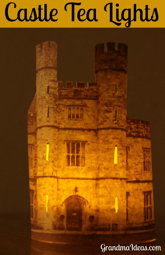 Castle Tea Lights Grandma Ideas