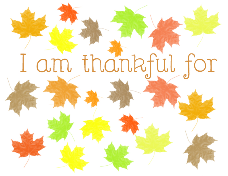 It is a graphic of I Am Thankful for Printable regarding thank you