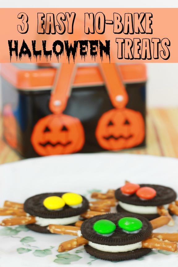 3 easy no bake halloween treats