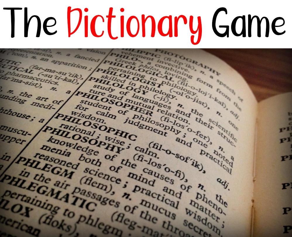 The Dictionary Game - Grandma Ideas