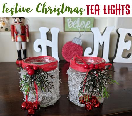 Festive Christmas Tea Light Jars Grandma Ideas
